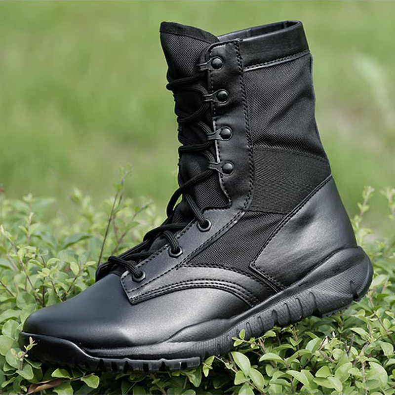 Outdoor Black Military Combat Boots Lightweight Tactical Hiking Shoes Men Sapato Masculino Mens Hiking Boots Mountain Hunting