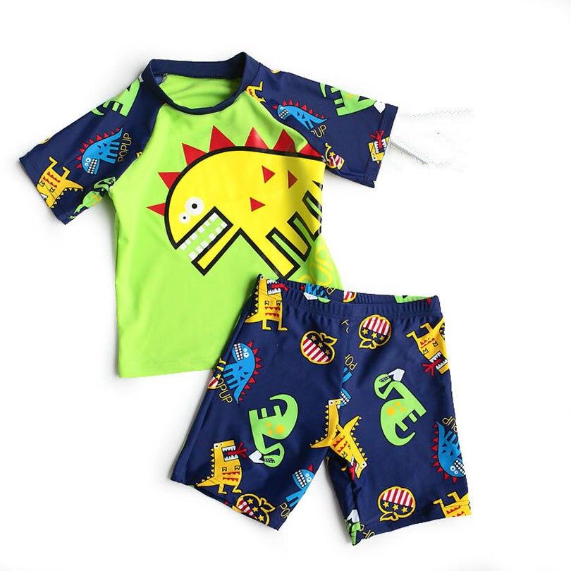 Novo 2019 Dos Desenhos Animados Dos Meninos Maiôs 2psc Camisas + Shorts Trunks Esportes Das Crianças Das Crianças Swimwear Para Meninos Beachwear Bathing Sutis