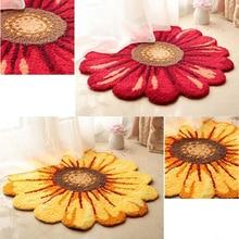 Высококачественный Цветочный Круглый ковер для гостиной, прикроватный коврик для спальни с солнечным цветком, детский стул, салон, мягкий коврик для прихожей, коврики для ванной