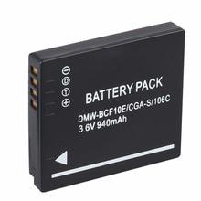 940 мАч Батарея для Panasonic Lumix Камера CGA-S/106C CGA-S/106D/106B DE-A59B DE-A60B DMW-BCF10E DMW BCF10E DMWBCF10E DMC-F2