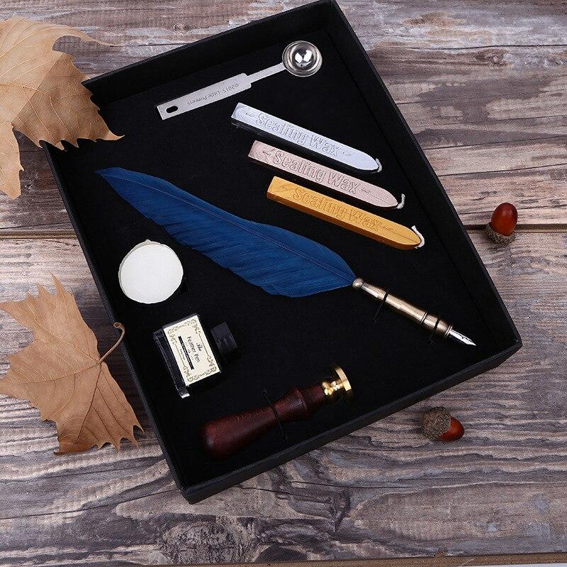 Vintage Antike Feder Dip-Pen Schreiben Tinte Set Schreibwaren ...