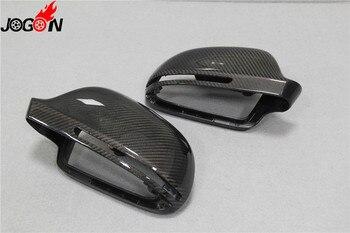 Rimontaggio di 1:1 Reale In Fibra di Carbonio Vista Posteriore Della Copertura Dello Specchio Per Audi A5/S5 B8 Coupe 2008 2009