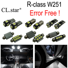 24pc X Canbus Error Free LED interior dome light lamp Kit package For Mercedes Benz R class W251 R320 R350 R500 (2006-2014)