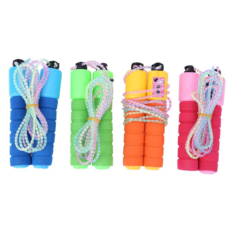 Outdoor Skipping Rope Adjustable Cord Speed Fitness Aerobic Cotton Sponge Count Sporting Jumping Exercise Equipment Jump Rope
