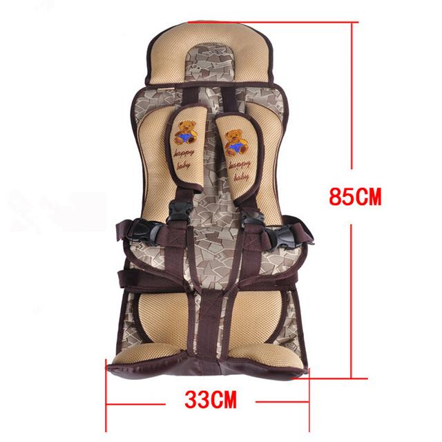 Proteção do carro Crianças, 0-12 Years Old Lovely Baby Car Seat, Portátil e Confortável Infantil da Segurança Do Bebê assento, Almofada Bebê Prático