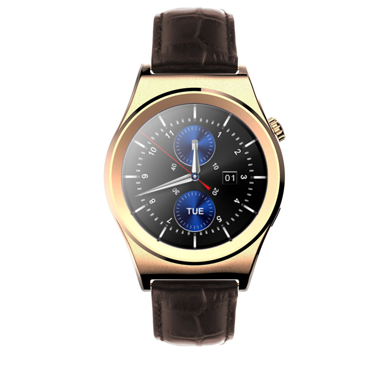 купить Fashion Business Smart Watch Men Steel Leather Band Bluetooth Heart Rate Mintor Anti-lost Phone Remote Camera for IOS Android по цене 3178.2 рублей
