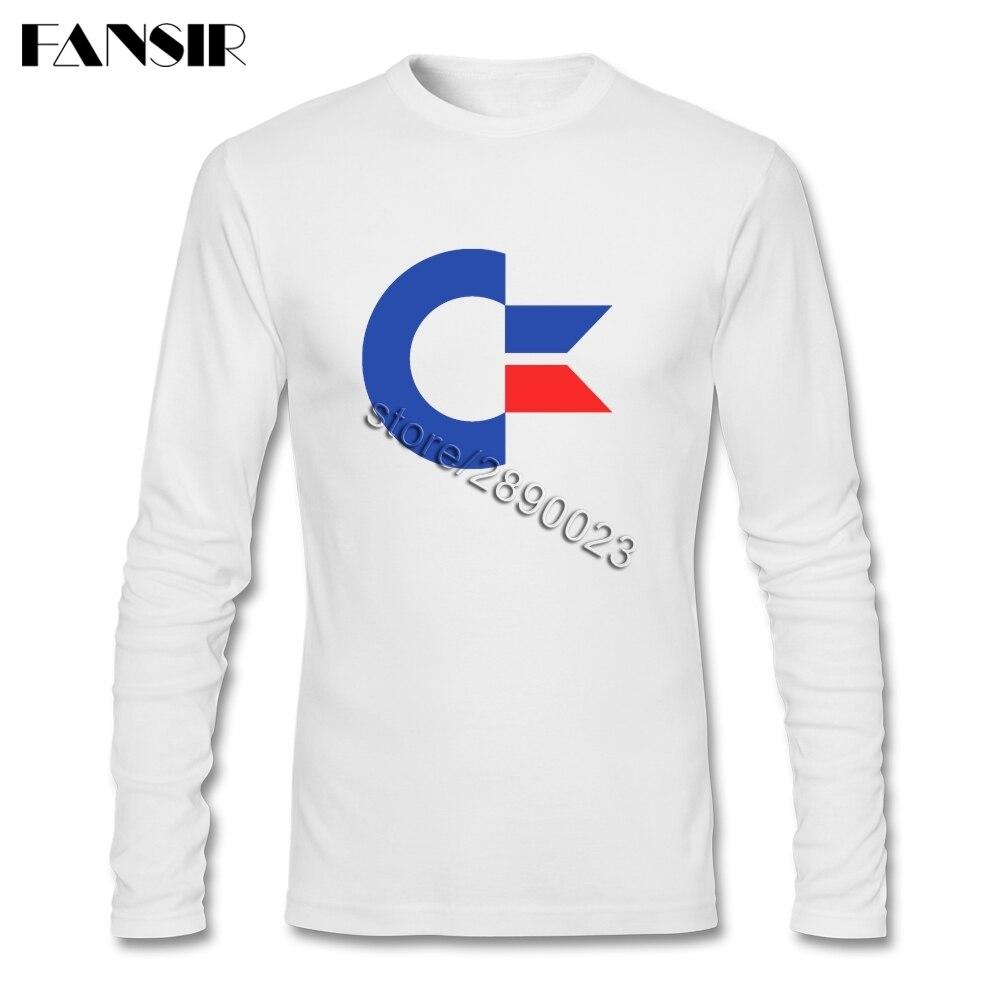 Commodore 64 Футболки Для мужчин мужской с длинным рукавом Crewneck хлопок Топ Разработанный Для мужчин футболка 3XL