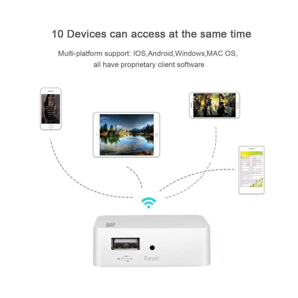 SSK Wi-fi Disco Rígido Externo Adaptador de Disco Rígido de Armazenamento Em Nuvem Sem Fio Inteligente De Backup Automático para o Caso HDD Leitor De Cartão PC hub USB