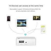SSK WiFi External Hard Drive Smart Hard Disk Adapter Wireless Cloud Storage Auto Backup for HDD Case Tablet Laptop USB Hub