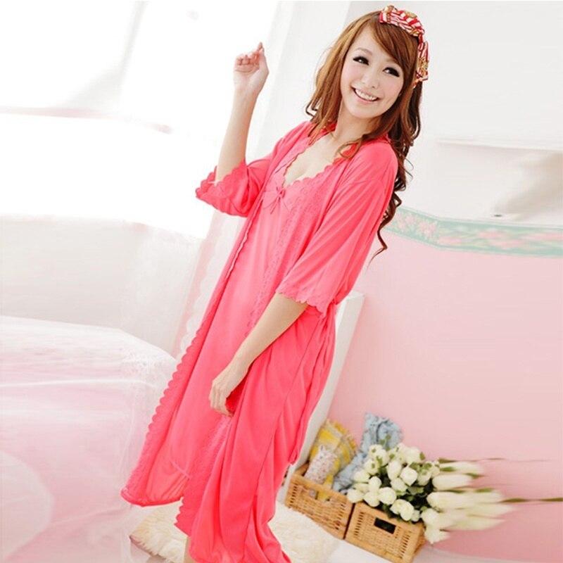 2 Stücke Frauen Schlinge Dessous Kleid Silk Robe Nachthemd Ein Kunststoffkoffer Ist FüR Die Sichere Lagerung Kompartimentiert