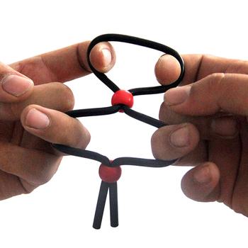 Regulowany pierścień penisa blokada opóźniająca przedwczesny wytrysk piękny pierścionek seks-zabawka dla mężczyzn Cock Ring Sex powiększenie penisa zabawki erotyczne dla dorosłych tanie i dobre opinie JETTING CN (pochodzenie) Silikon Silicone Penis Ring