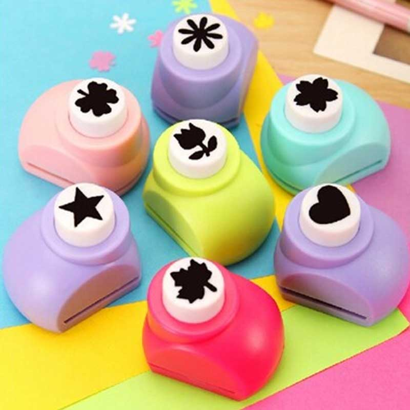 Art Crafts DIY Toy Rose Medium Paper Shaper Edge Cutter Punch For Card Make Scrapbooking Tags Kids Toy Gifts Random Color @Z303