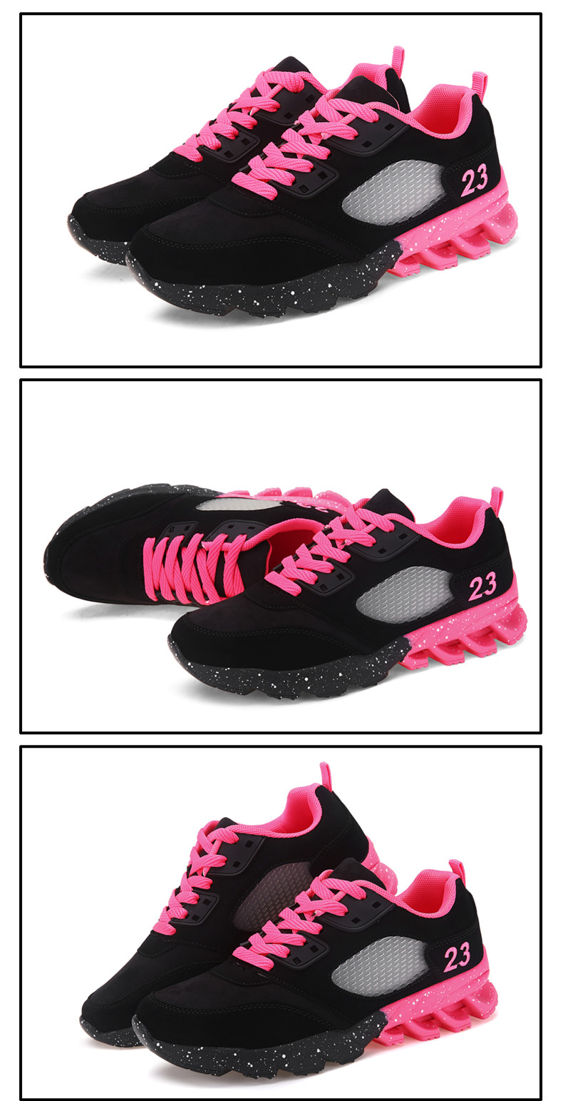 17 New Womens and Girl Brand cheap Running Shoes Outdoor Breathable Athletic Jogging Sneakers student Sport Blade Shoes black 7