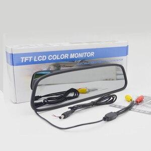 Image 4 - شاشة 4.3 بوصة TFT LCD شاشة ملونة وقوف السيارات الخلفية مرآة HD رصد السيارة لكاميرا الرؤية الخلفية للرؤية الليلية عكس