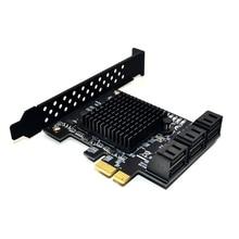 Marvell 88se9215 chip 6 portas sata 3.0 para pcie placa de expansão pci express sata adaptador sata conversor 3 com dissipador de calor para hdd