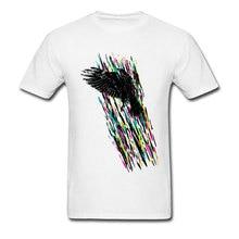 Light Flight T Shirt Raven Print Gift T-shirts Men Art Desig