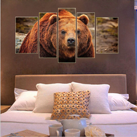 Bear Frameless Picture Painting By Numbers Wall Art DIY Digital Canvas Oil Paintng Home Decor For