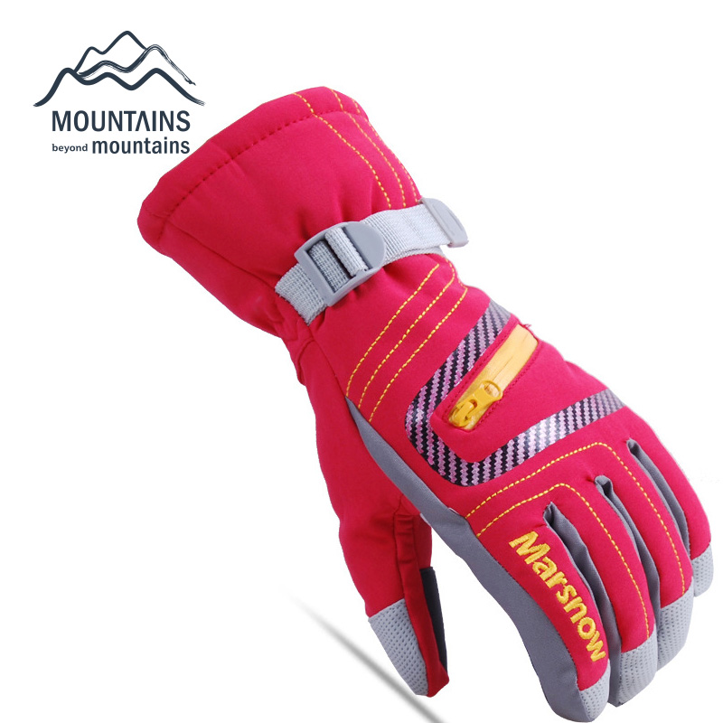 Snowboard Gloves Waterproof Super Warm Unisex Gloves High Quality Ski Gloves Winter Outdoor Mountain Skiing Gloves Breathable