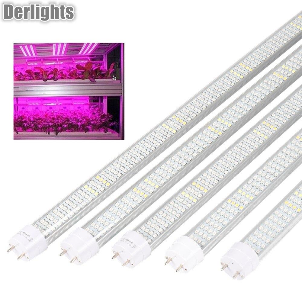5 шт./лот 60 см 90 см 120 см светодиодный светать полный спектр T8 трубки Светодиодная лента для освещения растений лампы для внутреннего парник, ...