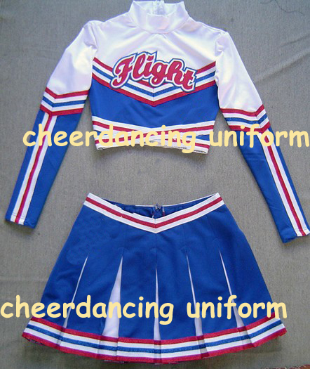 Cheerleading Uniform Performance Outfit Top+ Skirt  Costume Clothing Custom Style