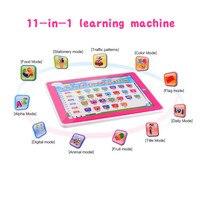 11 1 다기능 학습 기계 터치 스크린 태블릿 컴퓨터 toys, 영어 알파벳 단어, 아이 조기 교육 장난