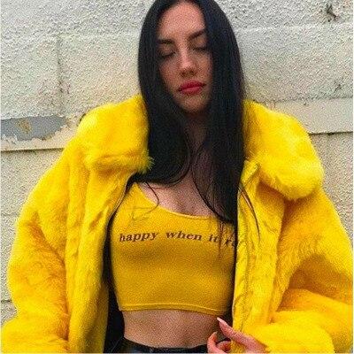 Femme Lâche Jaune Hiver De Chaud Mode Mince Automne 4xl Cuir Grande Femmes En Faux Taille Épaissir Veste Vison Manteau Vêtements Fourrure 556q8wBrP