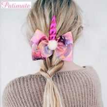 PATIMATE Lovely Unicorn Headband Hairpin Baby Shower Birthday Party Favors Hair Accessories Unicornio