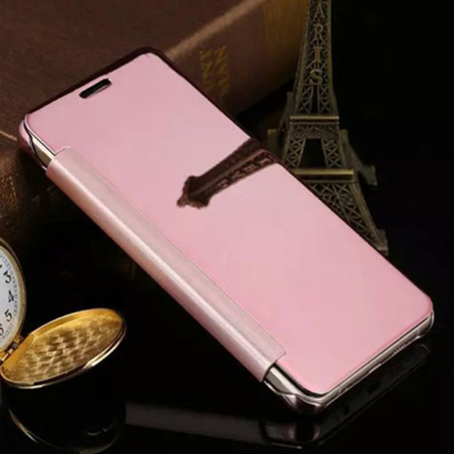 buy online 7d327 07a90 US $5.99 |Electroplating Hard Mirror Flip Cover Clear View Transparent Case  For Samsung Galaxy A5 2016 A510 A510F -in Flip Cases from Cellphones & ...