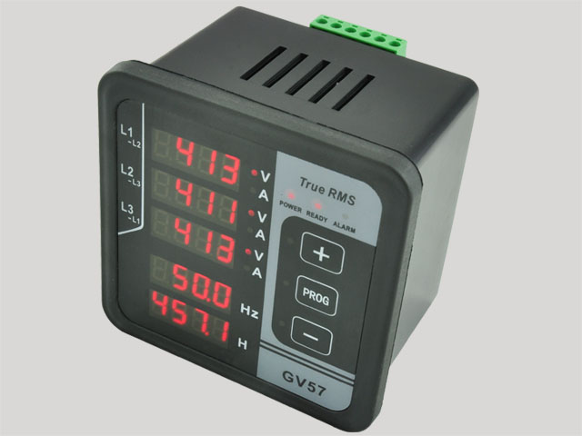 GV57 Three-phase Generator Digital Multifunctional Meter Current/Voltage /Frequency Tester цена