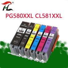 6PK  Compatible PGI580 580XXL CLI 581 XXL ink cartridge for CANON Pixma TR7550 TR8550 TS6150 TS6151 TS8150 TS8151 TS8152