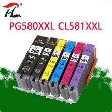 6PK תואם PGI580 580XXL CLI 581 XXL דיו מחסנית עבור CANON Pixma TR7550 TR8550 TS6150 TS6151 TS8150 TS8151 TS8152