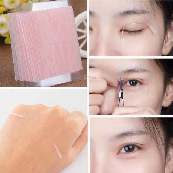 52pcs invisible double eyelid tape magic eyelid stickers double sided strip adhesive fiber Stretch objects for eye tools
