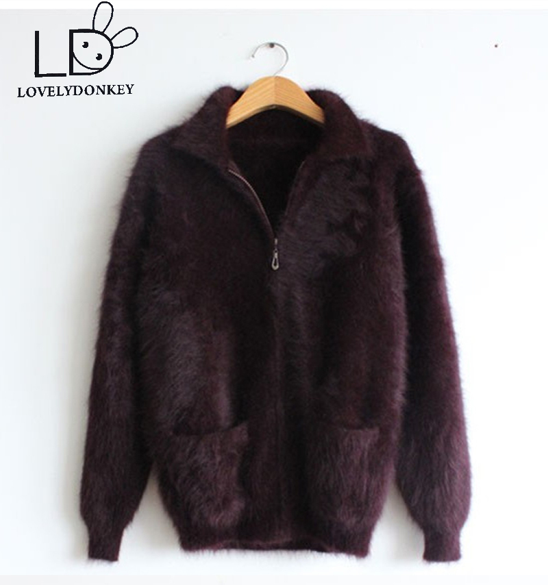 LOVELYDONKEYmink cashmere sweater men Cardigan sweater coat thick free shipping m657
