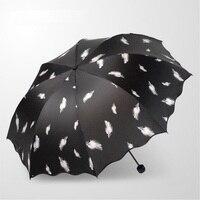 패션 스타일 다채로운 맑은 우산 안티 자외선 다기능 태양 비 우산 날개 테마 강한