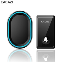 CACAZI No Battery Required Wireless Doorbell 58 Chimes US EU UK Plug Self-powere