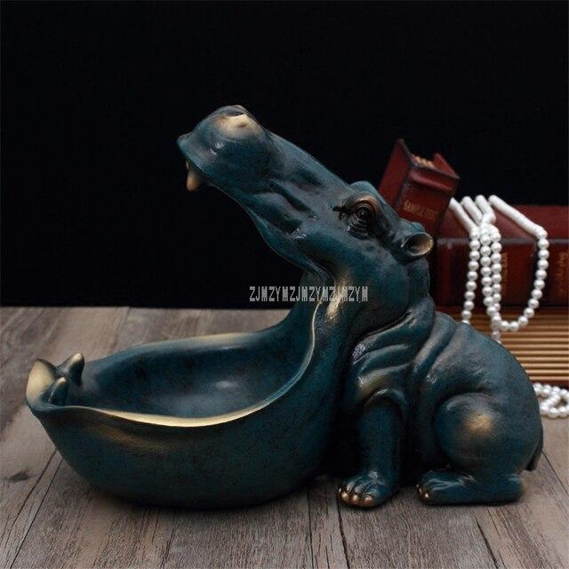 Abstract Hippopotamus Statue 3