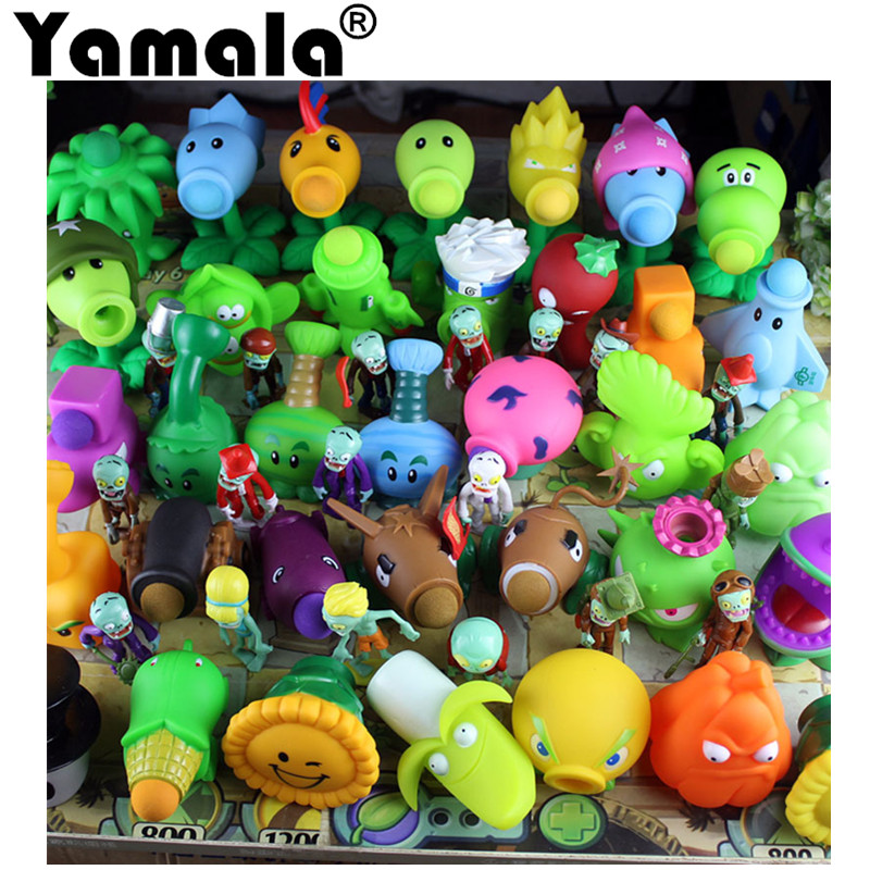 [Yamala] Plants vs Zombies PVC Action Figures Toy, PVZ Plant + Zombies Figures Toys For Children Packaging In Opp Bag 3 8cm plants vs zombies action figure toy pvc plants vs zombies figure model toys for children collective brinquedos