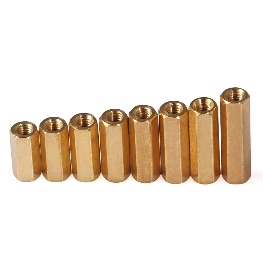 10-50Pcs M3/<font><b>M4</b></font>*L Female Female Hex Head <font><b>Brass</b></font> Spacing Screws Threaded Pillar PCB Computer PC Motherboard <font><b>StandOff</b></font> Spacer image