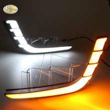 SNCN LED daytime running lights for Suzuki Swift 2013 2014 2015 2016 drl fog lamp cover 12V ABS sncn led fog lamp for ford fiesta 2009 2016 with daytime running lights drl 12v high brightness