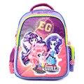 2017 новых детей мультфильм my little pony школьный девушки прекрасный рюкзак школьный Для детей дети Рождественский подарок bags1000