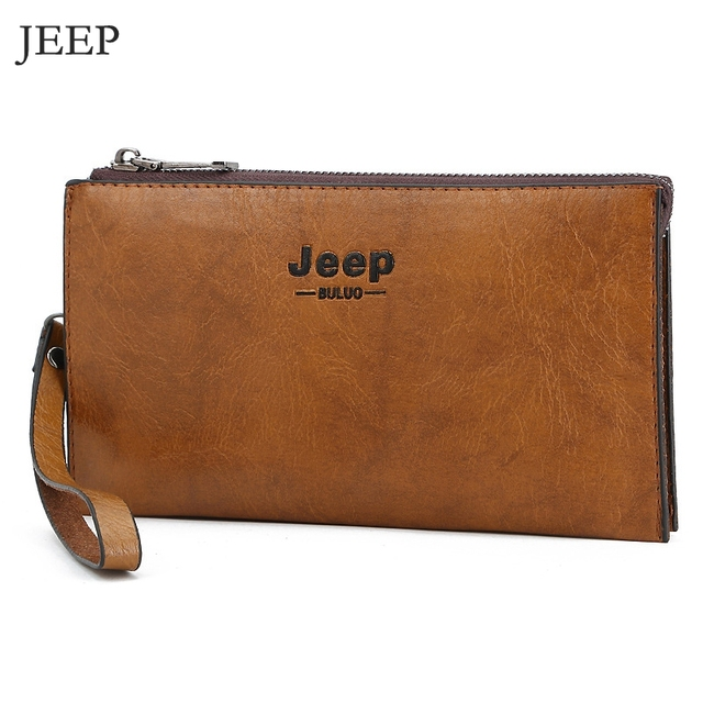 e35435036ba US $9.16 45% OFF|Brand Jeep Men Clutch Bags Fashion Men Long Wallet Solid  Money Phone Clutch Wallet Casual Men Purse ID Card Cartera Mujer JP05-in ...