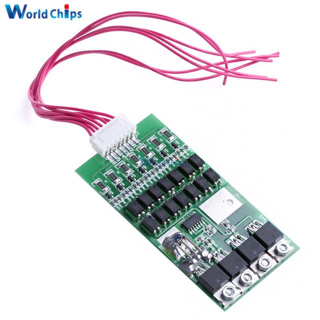 7S 20A 24V Li-ion Lithium 18650 Battery BMS Packs PCB Protection Board With Matching Cable Automatic Protection Function