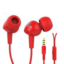 JBL оригинальная гарнитура для мобильного телефона с басами в ухо C100SI наушники с микрофоном 3,5 мм разъем