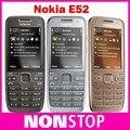 Teléfono e52 nokia e52 desbloqueado teléfono móvil bluetooth wifi gps 3g del teléfono celular del teclado ruso reformado