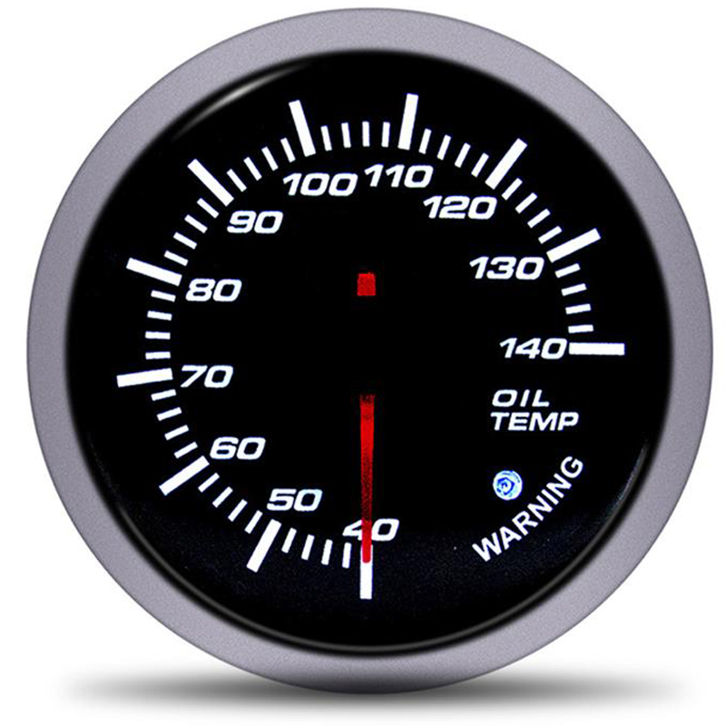 Car 12V 60mm Universal Oil Temp Gauge Pointer oil meter With temperature sensor indicadores de auto Racing for motorcycle moto in Water Temp Gauges from Automobiles Motorcycles