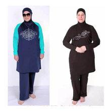 Maiô musculino feminino tankinis, roupa de banho islâmica