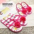 2015 новый матери-дочери вьетнамках тапочки женская дети цветок сандалии летом стиль девочек тапочки дети пляжная обувь KL401