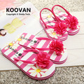 2015 nueva madre hija Flip flop zapatillas mujeres de sandalias de la flor muchachas del estilo del verano de los deslizadores de los niños de la playa KL401