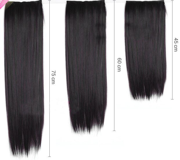 """24"""" EASY DIY Virgin Clip in Synthetic hair Extensions , 95G/STRAND,1pcs 5clips,free shipping"""