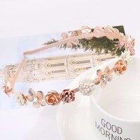 10Pcs/Lot Flowers Crystal Headband Hair Accessories For Women rhinestone Hair bands Fashion Head wear Hair Hoop